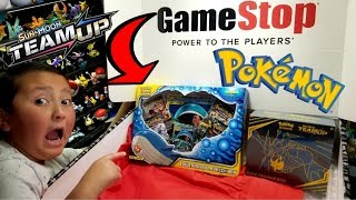 SUPER AWESOME POKEMON CARDS FROM A GAMESTOP MYSTERY BOX!!! NEW ELITE TRAINER BOX & TEAMUP GX BOX!!