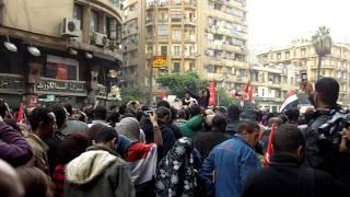 Protestors recuperate on Tahrir Street Thumbnail