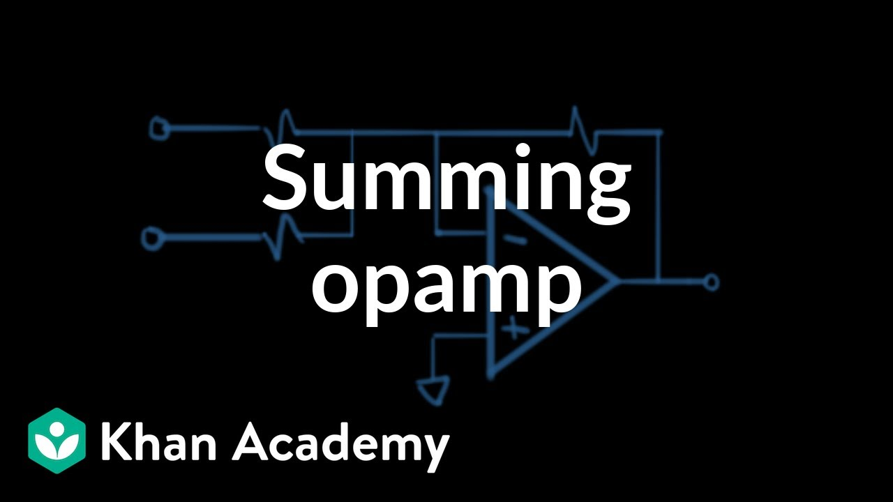 Summing Op Amp Circuit Youtube Power Connections For Opamp