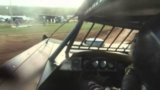 #19 Tim Fuller, heat race, in car camera, Bedford Speedway 6-1-14