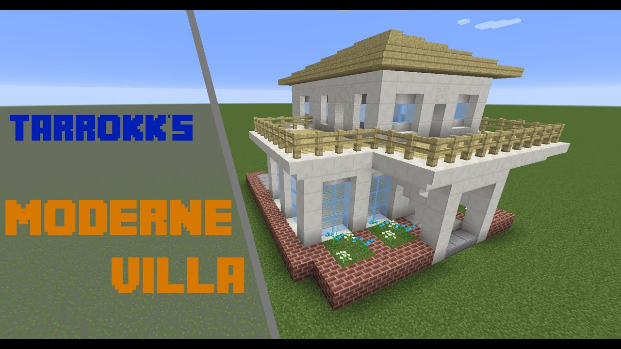 Minecraft Moderne Villa Tutorial Deutsch YouTube - Minecraft schones haus bauen youtube