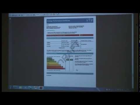 SAP calculations explained by the European Energy Centre (EEC) held at Edinburgh Napier University