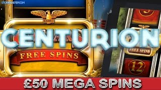 Centurion Slot Machine £50 SPINS with BIG WINNINGS