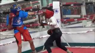 This Thomas Hearns Shaped Amateur Boxer Puts On CLINIC In Sparring Session...