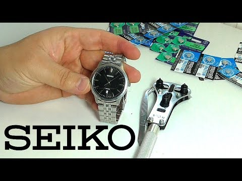 SEIKO – просто и быстро меняем батарейку