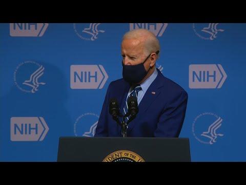 VIDEO NOW: President Biden speaks at National Institutes of Health