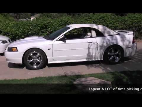 2003 Triple White Ford Mustang Gt Convertible Premium Sold
