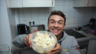 Mahlzeit für die Schule mit 1000 kcal für Masse (Schnell & Kalt)