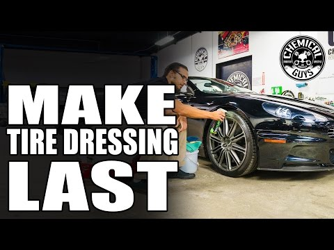 How To Make Tire Dressing Last - ASTON MARTIN DBS VOLANTE - Chemical Guys Car Care
