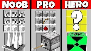 Minecraft Battle: NOOB vs PRO vs HEROBRINE: SUPER TROLLING TRAP CRAFTING CHALLENGE / Animation