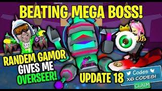 Beating Mega Boss With Randem Gamor - Update 18 - Ghost Simulator
