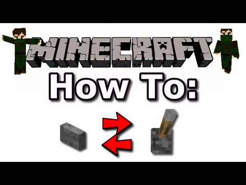 Minecraft How To: Turn A Lever Into A Button / A Button Into A Lever