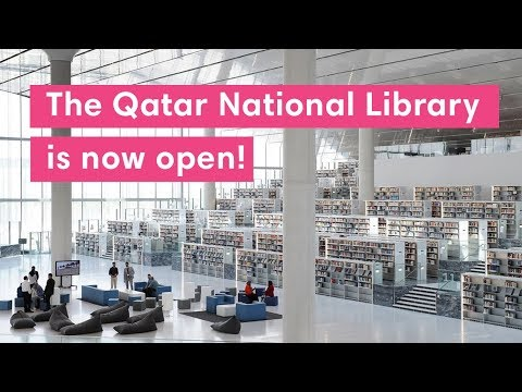 Your first look inside the totally ajeeb Qatar National Library!