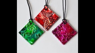 How To Make Gorgeous Pendants From Recycled Card, Tin & Alcohol Inks