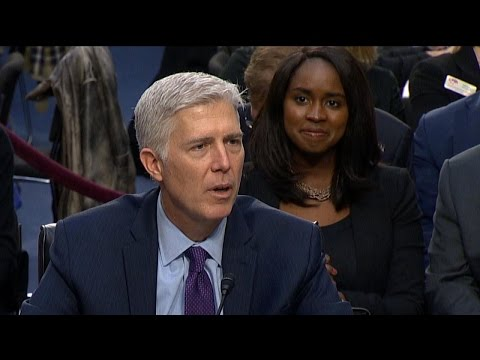 Who is The Woman Behind Neil Gorsuch at Hearing That Everyone Is Talking About