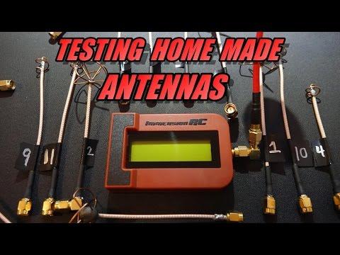 Testing Home Made 5.8ghz Antennas