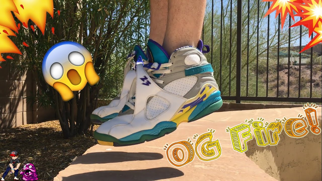 d716a858999aa5 OG Fire! Lady Aqua 8 s Unboxing With on Feet! - YouTube