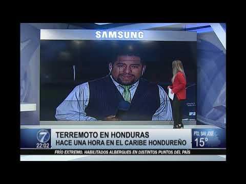 Fuerte sismo sacudió Honduras