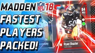 FASTEST PLAYER! 91 SPEED! TONS OF ELITES!  Madden 18 Ultimate Team MUT 18