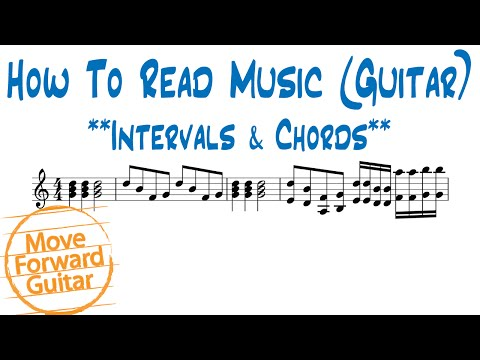 How to Read Music (Guitar) - Intervals & Chords