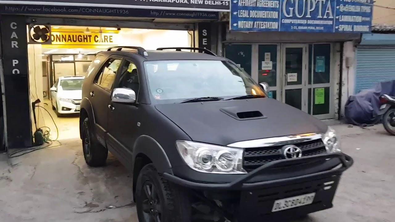 Toyota Fortuner Modification Matte Black Alloys Matte Black Fortuner Matte Black