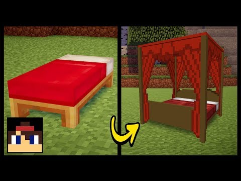 ✔ Minecraft PE: How To Make A Canopy Bed | MCPE