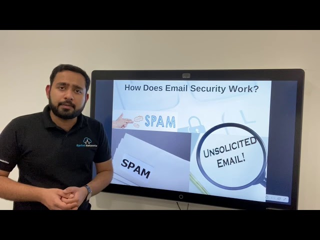 How does an email security system scan for spams in Emails?