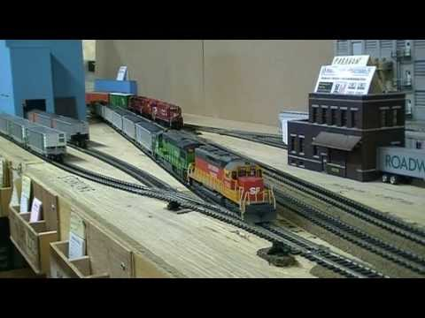 Realistic HO Scale Operating Session on my Friend's BN Layout.