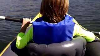 best ever two man inflatable kayak we love it intex explorer k2 review on the water
