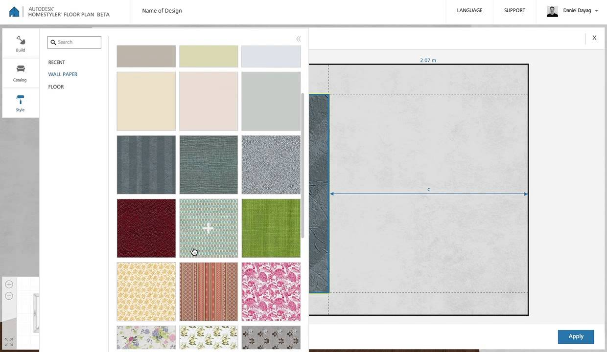 Homestyler floor plan beta paint wall with multiple textures youtube - Floor plans for free paint ...