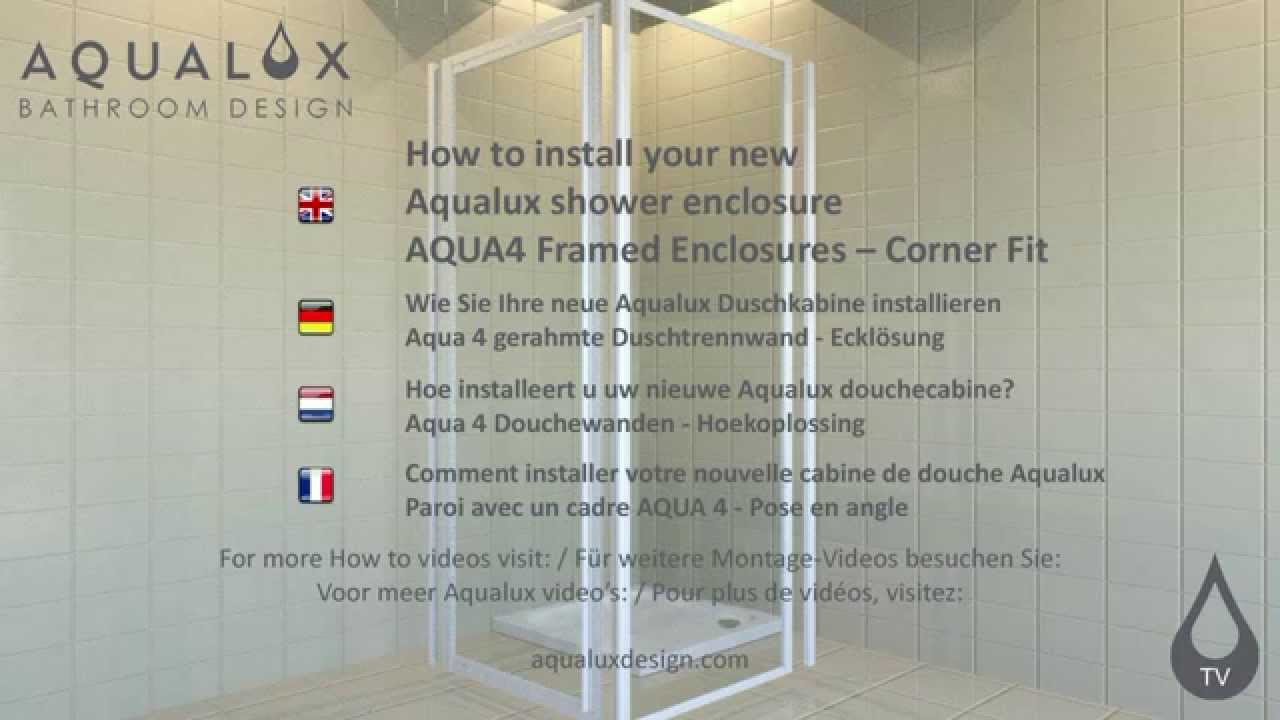 shower enclosure installation instructions