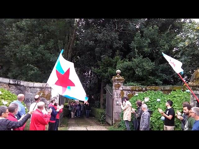Activistas entran en el Pazo de Meirás