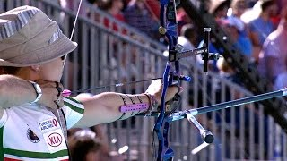 Olympic runner-up Aida Roman wins World Cup title | Lausanne 2014 Archery World Cup Final