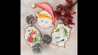 How to Decorate Holiday Cookie Exchange Cookies 🎁⛸️🕊️