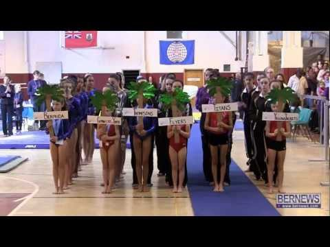 Parade Of Teams At International Gymnastics Meet Jan 12 2013