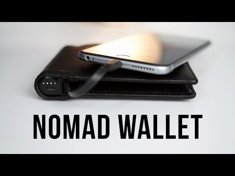 Charge Your iPhone with Your Wallet! Nomad Wallet Review!