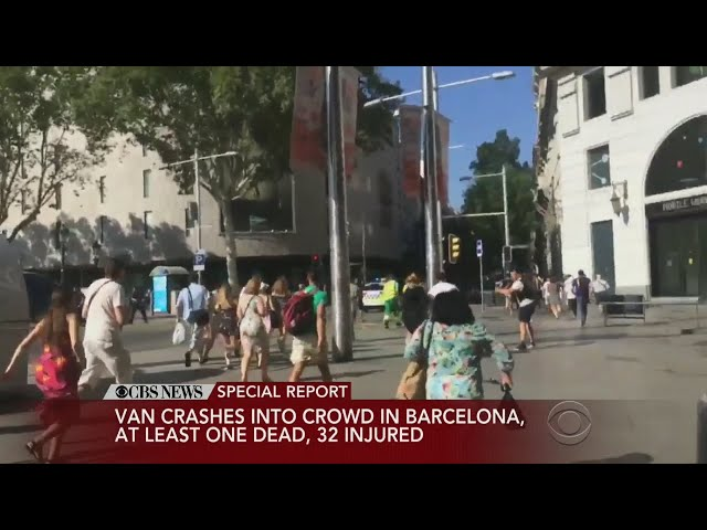 Special Report: Driver Slams Into Pedestrians In Barcelona Tourist Hot Spot
