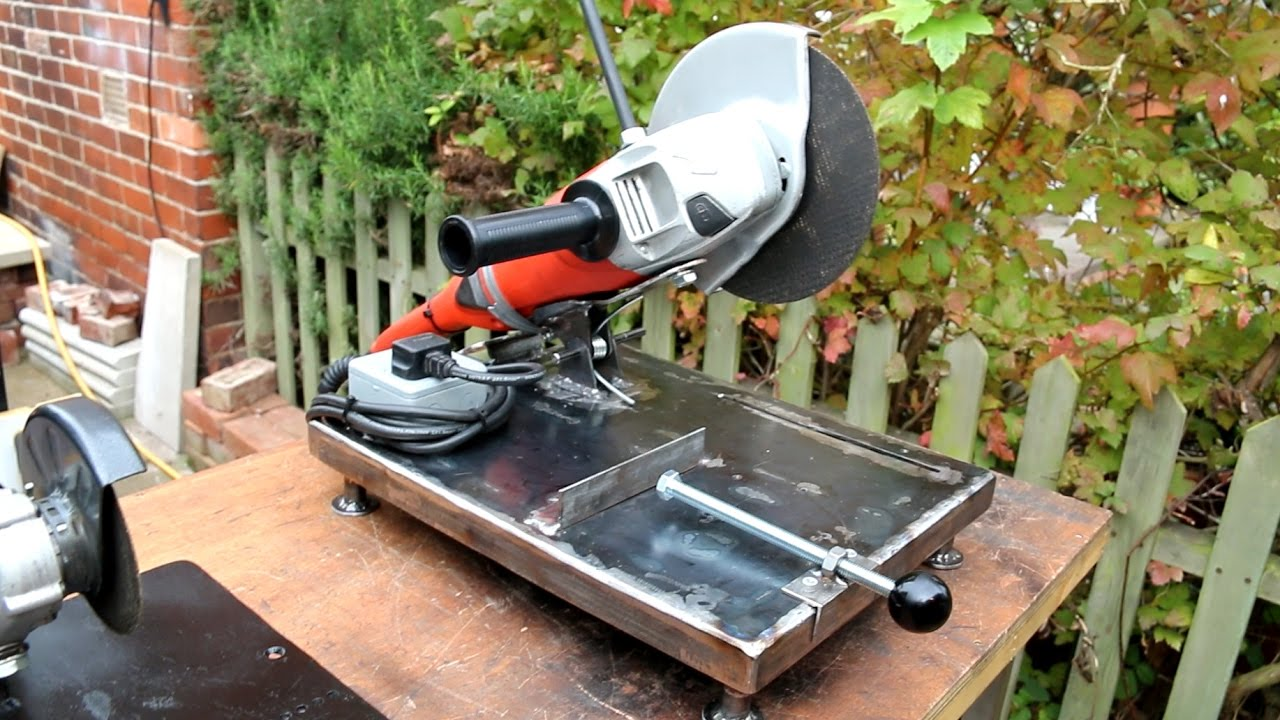 Homemade large angle grinder stand and metal chop saw 2 in 1 youtube keyboard keysfo Images