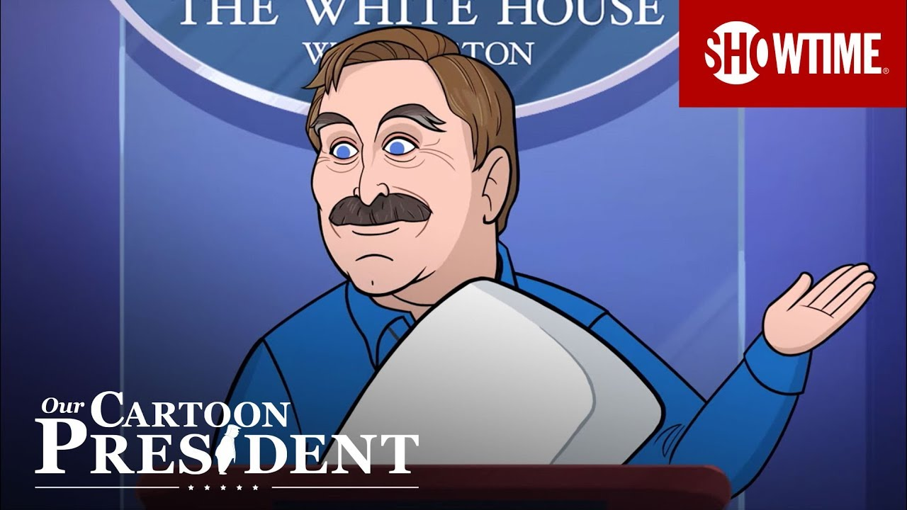 Download Cartoon Pillow Guy Mike Lindell Introduces Himself to the Press | Our Cartoon President | Season 2