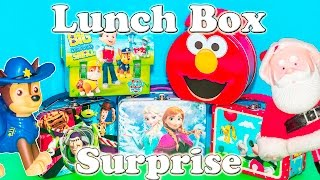 LUNCH BOX Surprise Paw Patrol + Mickey Mouse + Disney Frozen+ Doc McStuffins Kinder Surprise Egg Vid