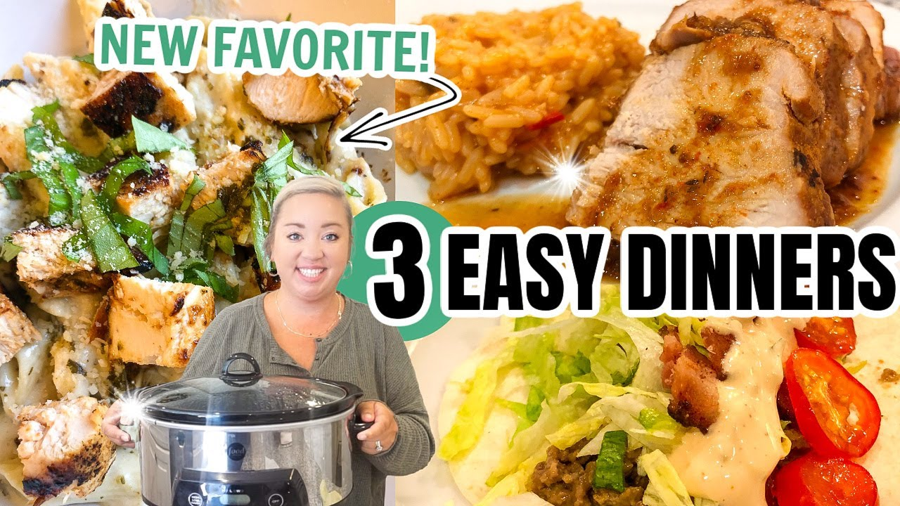 WHAT'S FOR DINNER | 3 EASY DINNER RECIPES |  EASY WEEKNIGHT MEALS | JESSICA O'DONOHUE #EASYRECIPES