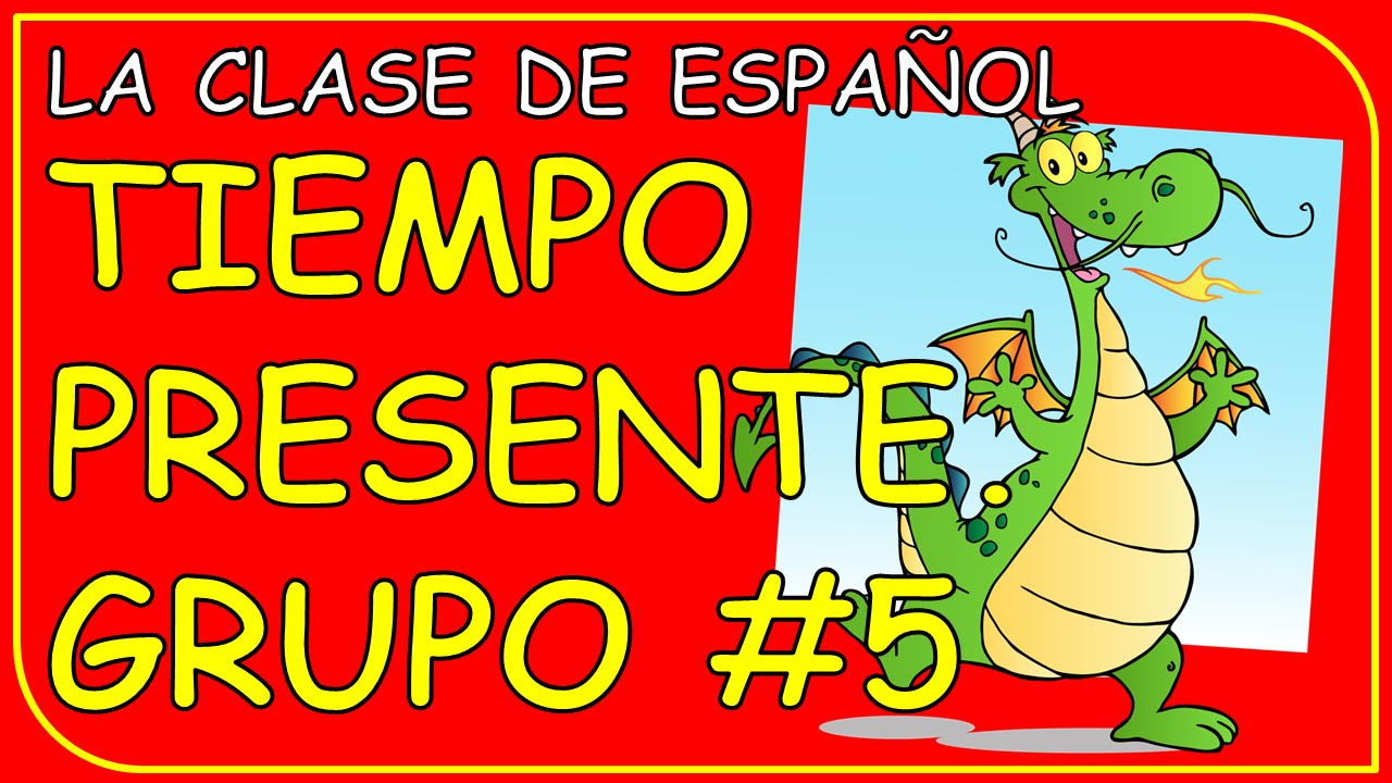 present 5 år Spanish verb conjugation #5. Present tense. Regular verbs ending  present 5 år