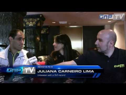Invicta FC 5 - Juliana Carneiro Lima talks about staying undefeated and her US-Debut