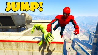 Extreme Jumper Hulk and Spiderman from HighTower!  Funny videos for kids