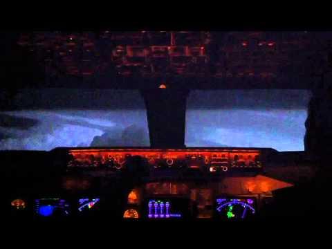Boeing B747-400 Super Bad Weather Cell: Cockpit Vi