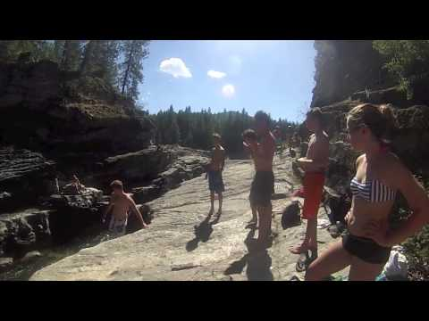 Cliff jumping 2013-Christina lake