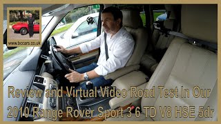 Review and Virtual Video Road Test In Our 2010 Range Rover Sport 3 6 TD V8 HSE 5dr