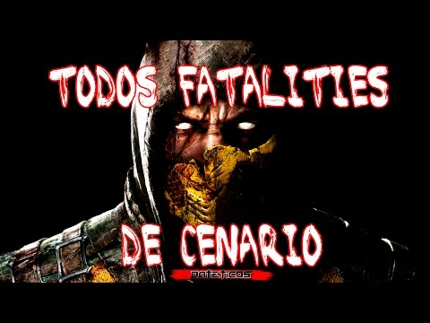 MKX - TODOS FATALITIES DE TELA (STAGE FATALITY)