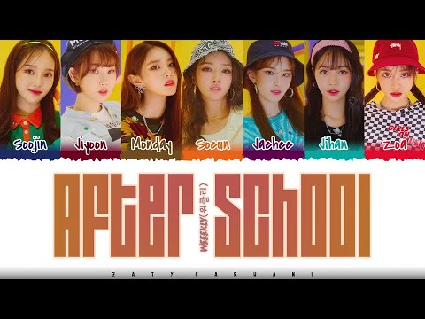 WEEEKLY - 'AFTER SCHOOL' Lyrics [Color Coded_Han_Rom_Eng]