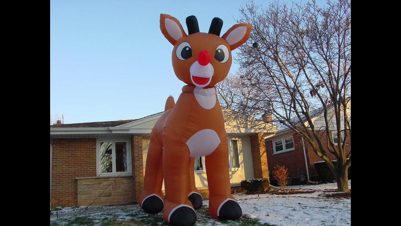 15 Foot Inflatable Rudolph Youtube
